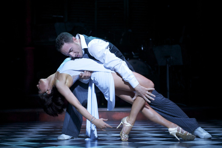 Dancers Vincent Simone and Flavia Cacace in Midnight Tango.