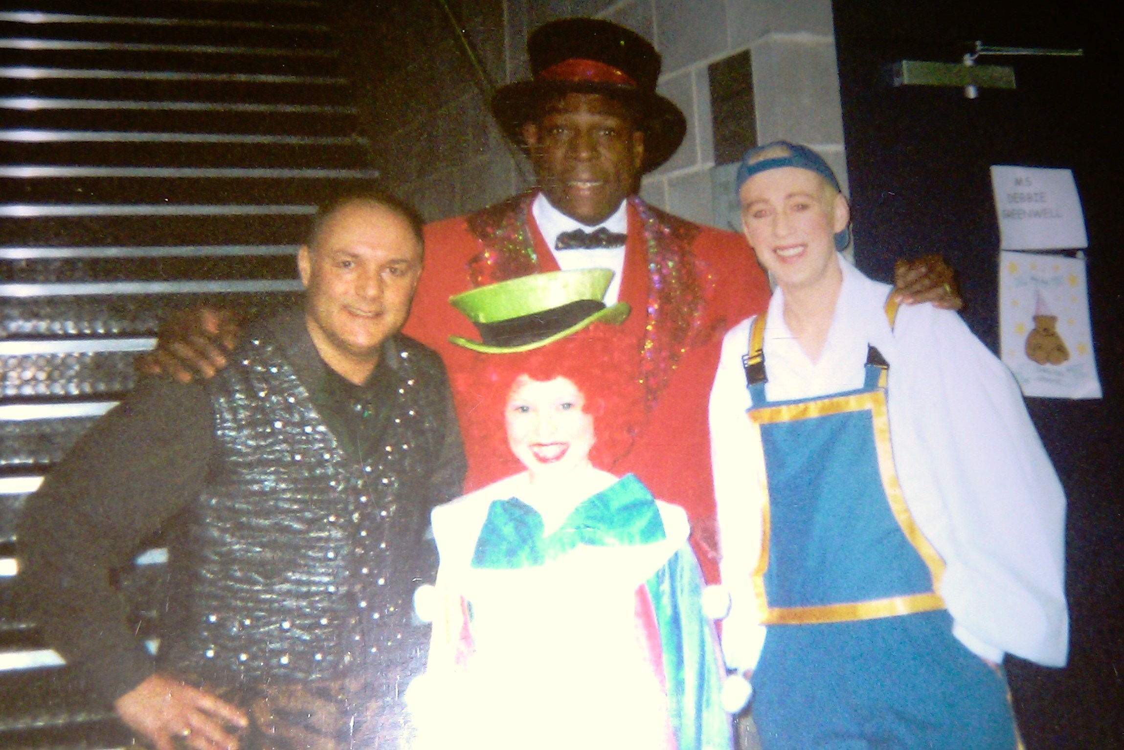Trip down memory lane (all the way to the year 2000/2001 panto at MK Theatre!): Me, in costume, with Karl Howman, Frank Bruno and Richard Cadell for the circus-themed 'Goldilocks and the Three Bears'.