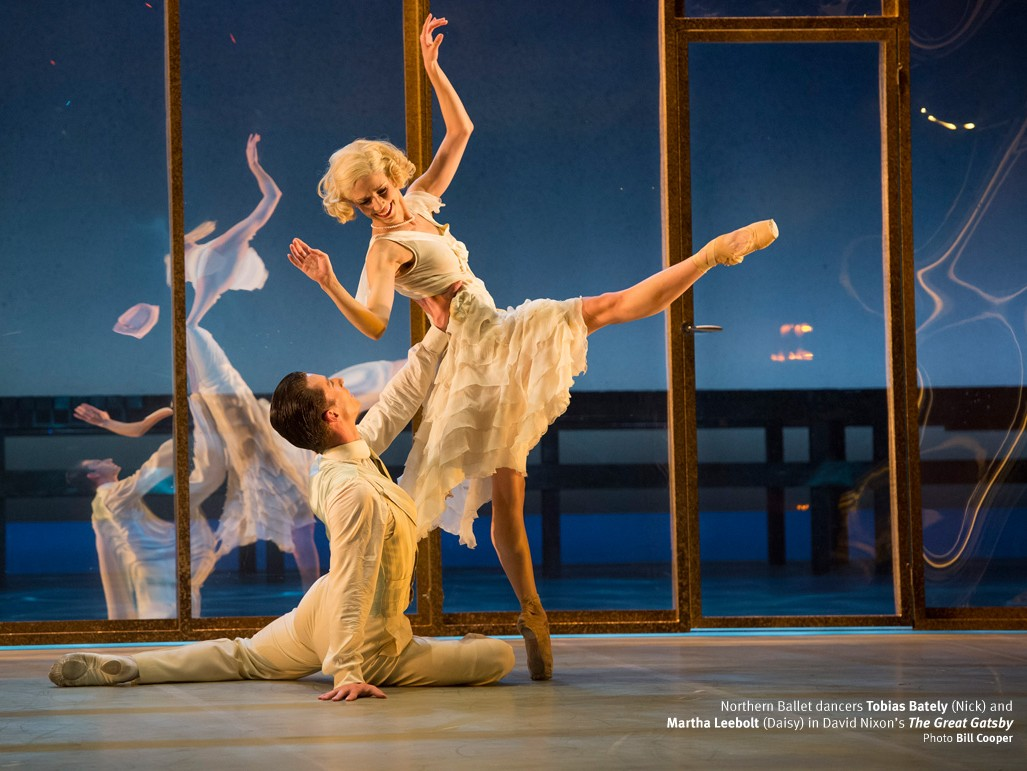 'The Great Gatsby': Northern Ballet's Jay Gatsby (Tobias Batley) and Daisy Buchanan (Martha Leebolt) photographed by Bill Cooper