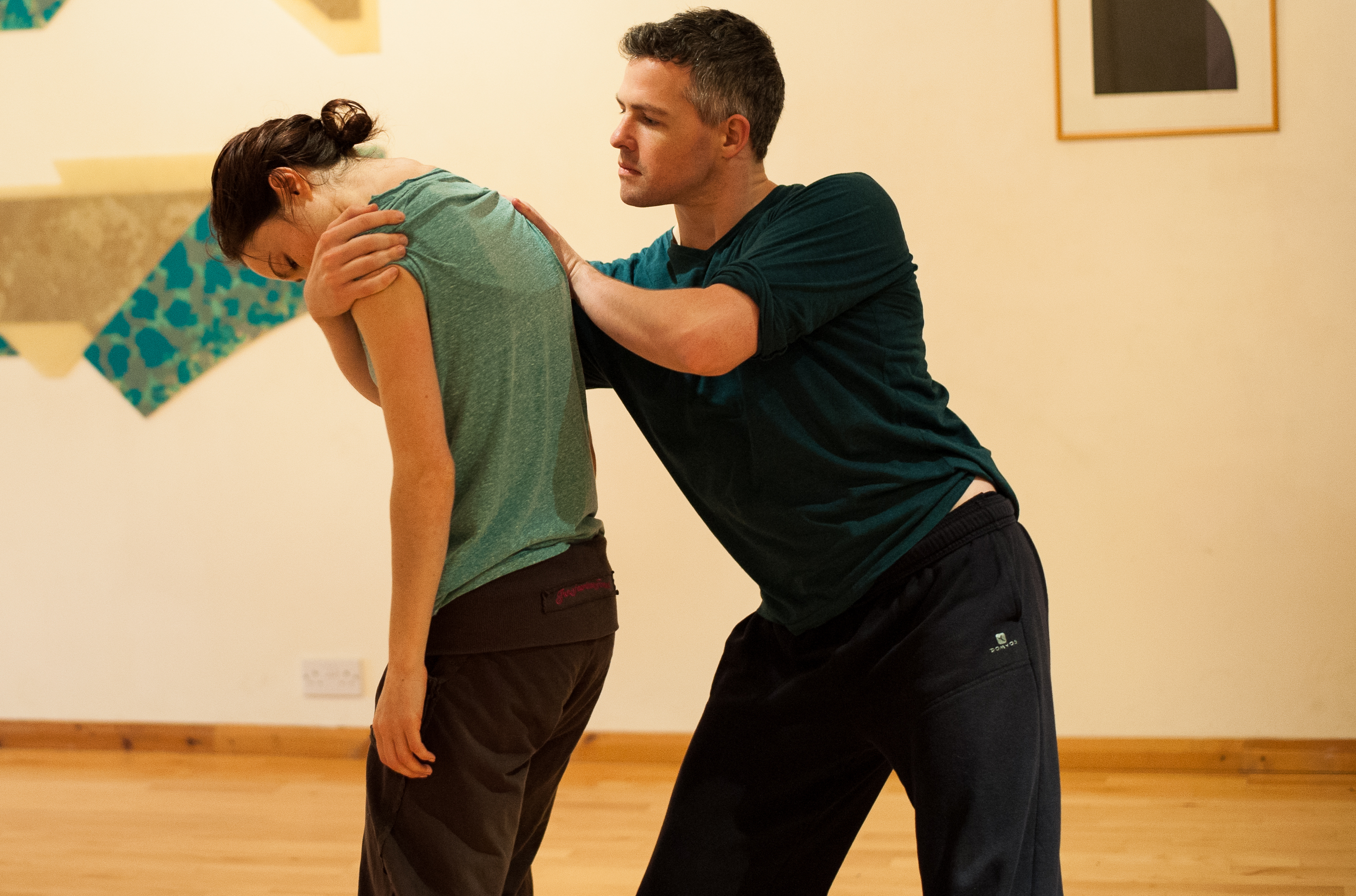 "PARTNERING: Rehearsals for Jo Meredith's ""Chimera"" (Photo by Chantal Guevara)"