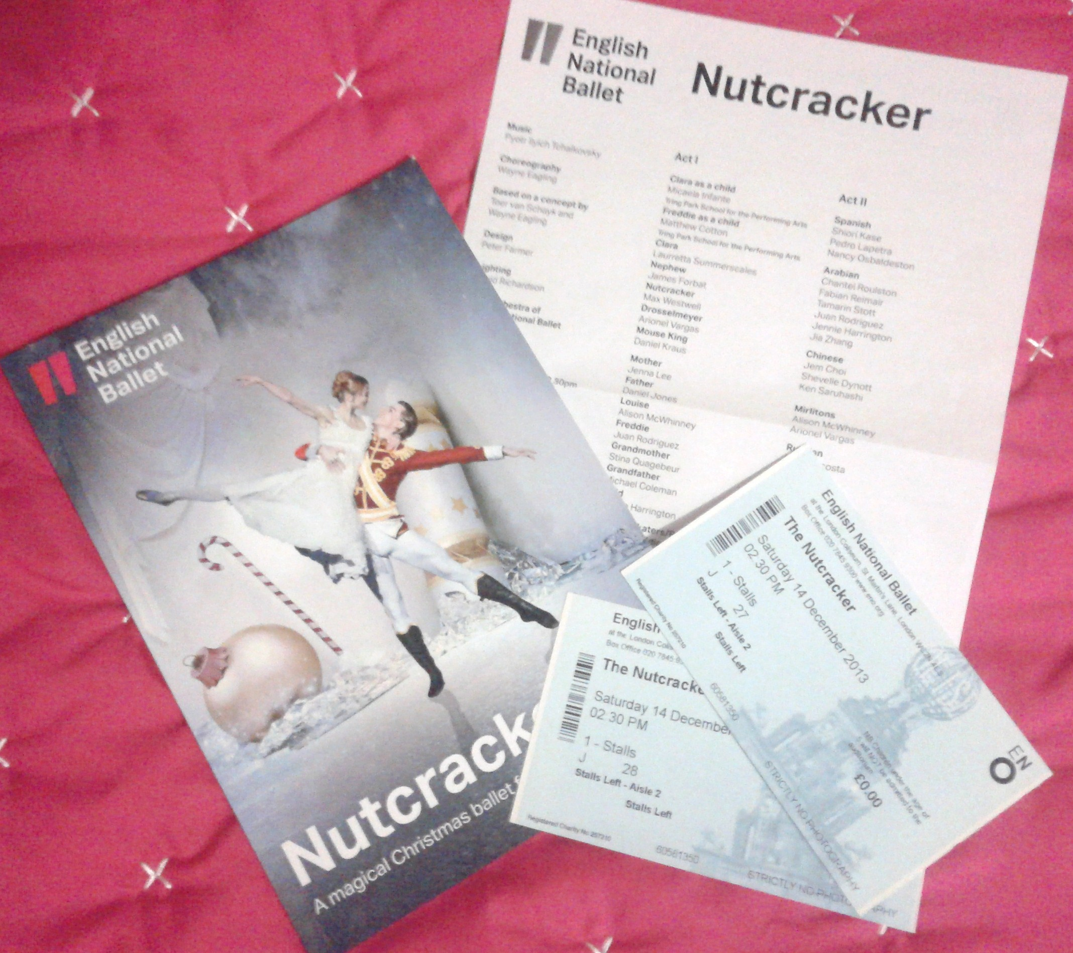 English National Ballet's Nutcracker at the London Coliseum programme and tickets, December 2013.