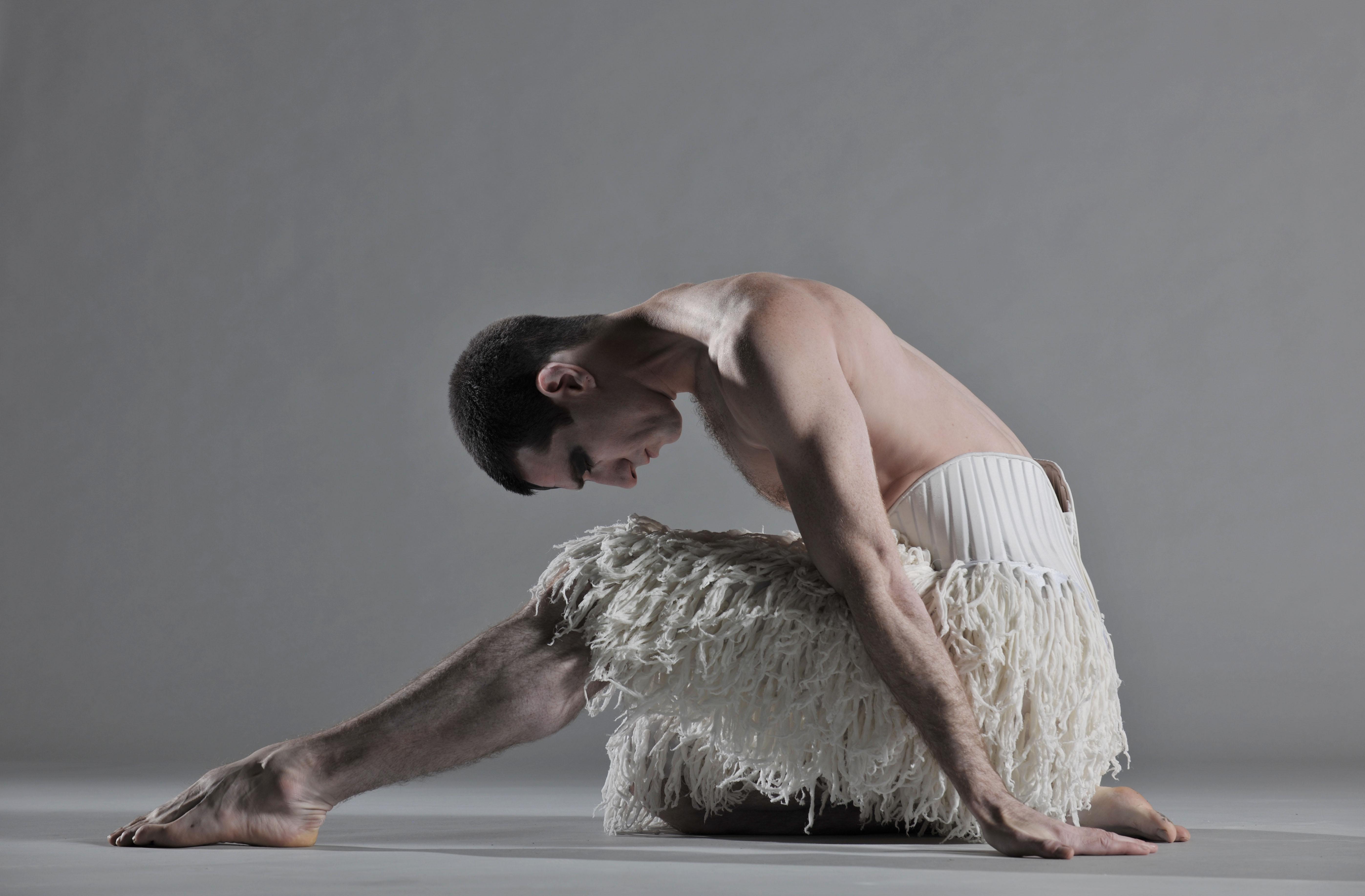 Jonathan Ollivier as The Swan in Matthew Bourne's Swan Lake (Photo by Hugo Glendinning)