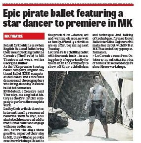 ENB 'Le Corsaire' preview MK Citizen GO! 10th October 2013