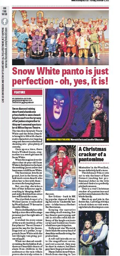 Panto 2013 Review page print edition