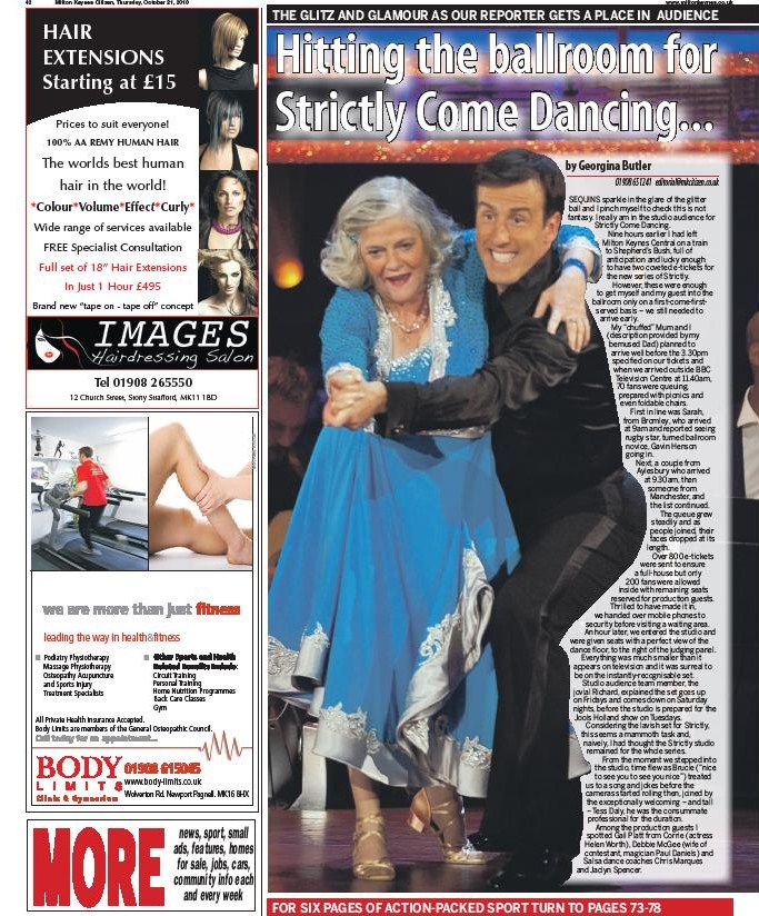 Strictly Come Dancing Oct 2010 page 1
