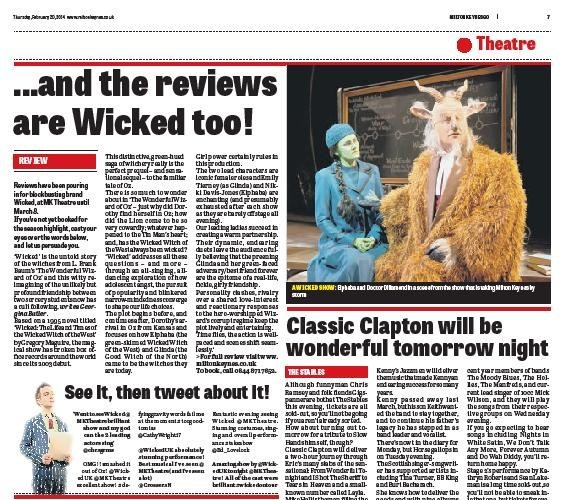 Wicked Review print edition MK Citizen GO! 20th February 2014