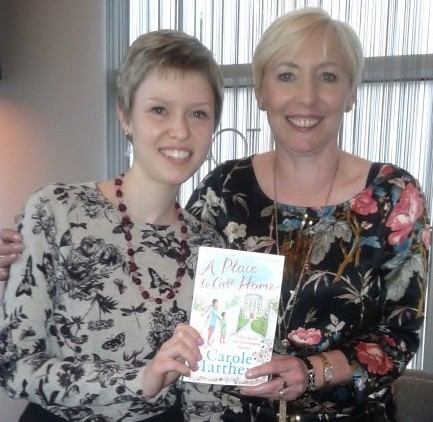 Afternoon Tea with Carole Matthews at Hotel La Tour, Birmingham. Georgina Butler with best-selling author Carole Matthews, April 2014.