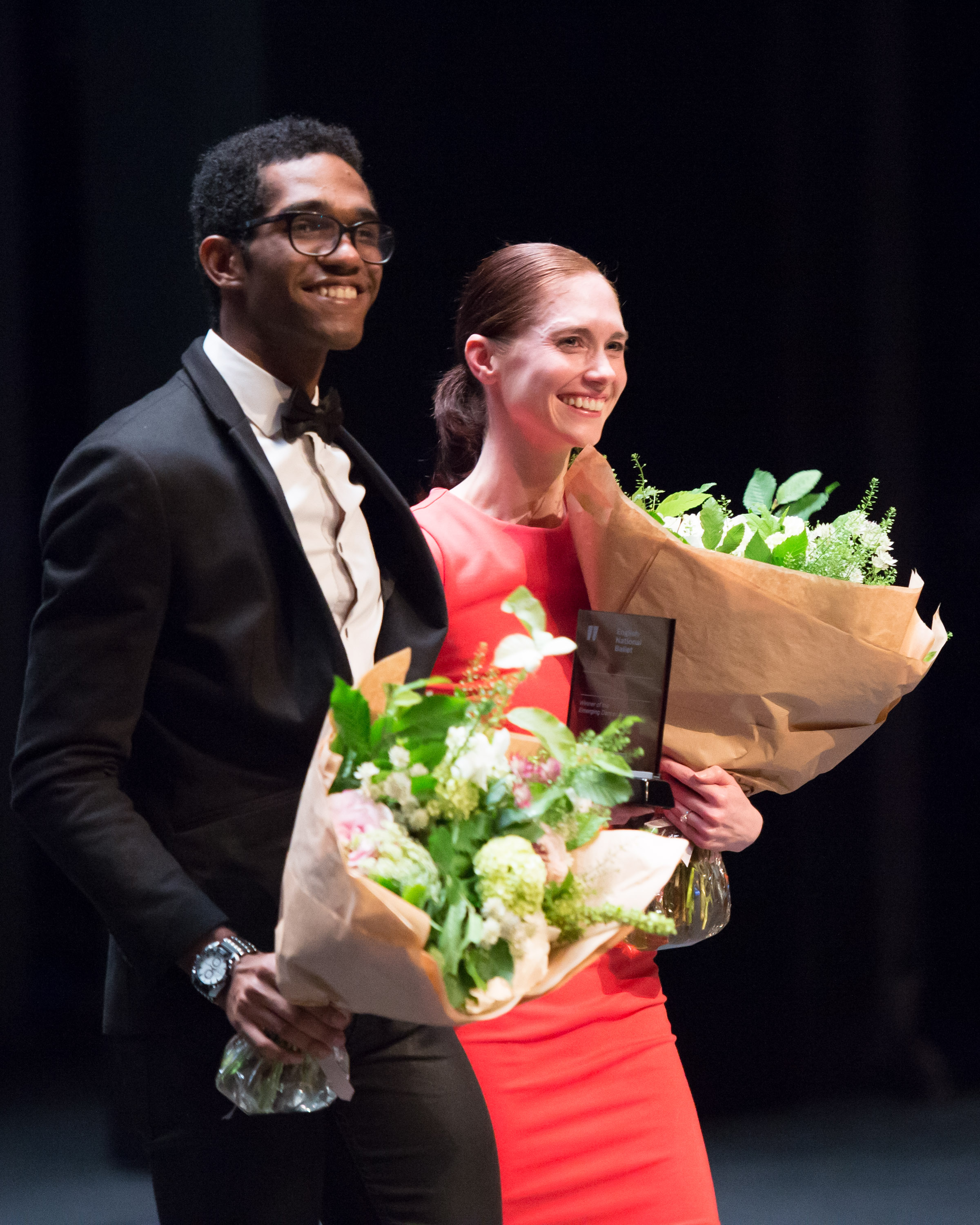 English National Ballet's 'Emerging Dancer' 2014 joint winners Junor Souza and Alison McWhinney (Photography by ASH)