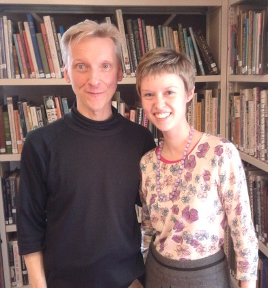 Dance journalist Donald Hutera at English National Ballet's Dance is the Word with writer Georgina Butler.