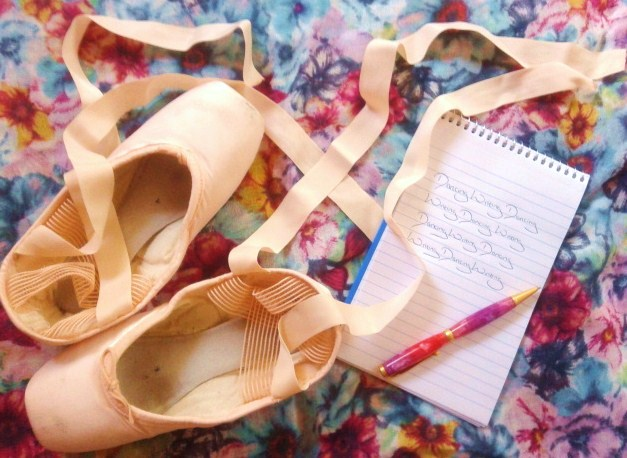 pointe shoes dancing writing dancing notepad