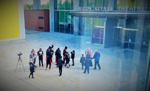 Panto 2014 press launch Flawless meet passing school children