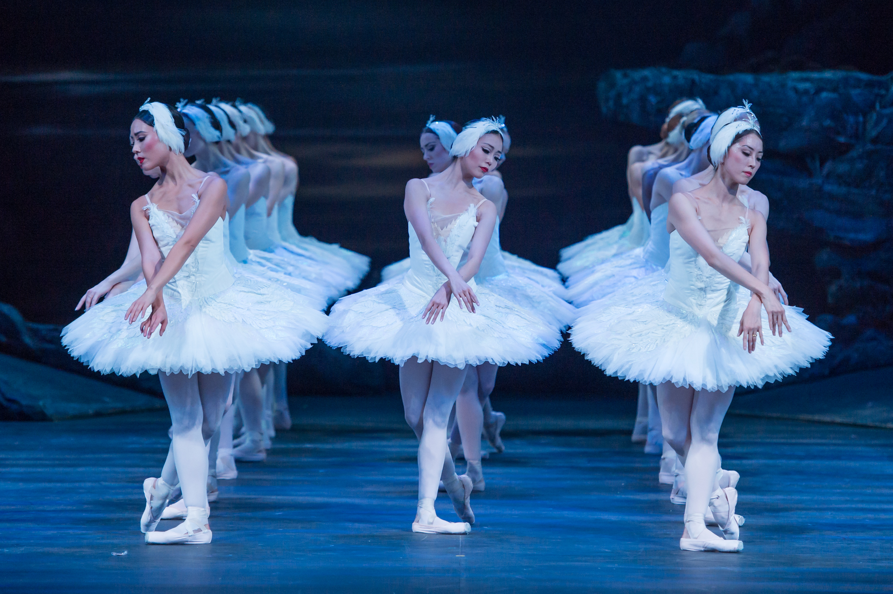 English National Ballet's Swan Lake. The Swans corps de ballet. (Photography by ASH).