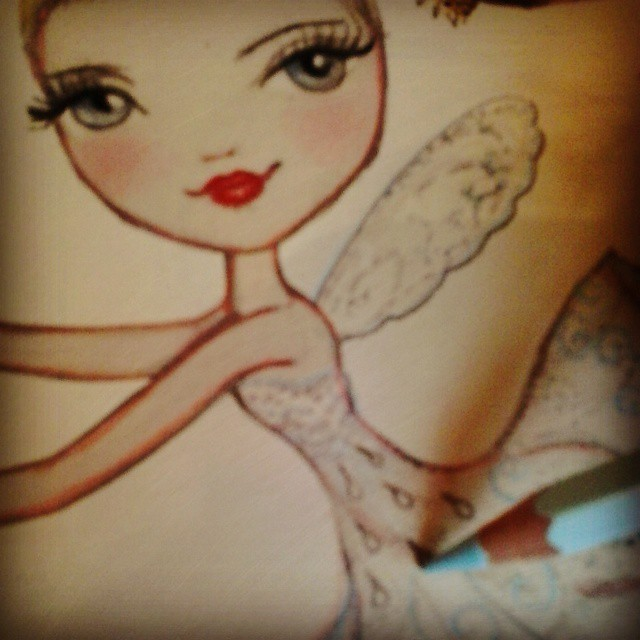 Christmas. Ballet Papier. The Nutcracker. Georgina Butler as the Dew Drop Fairy. Illustration as a work in progress.