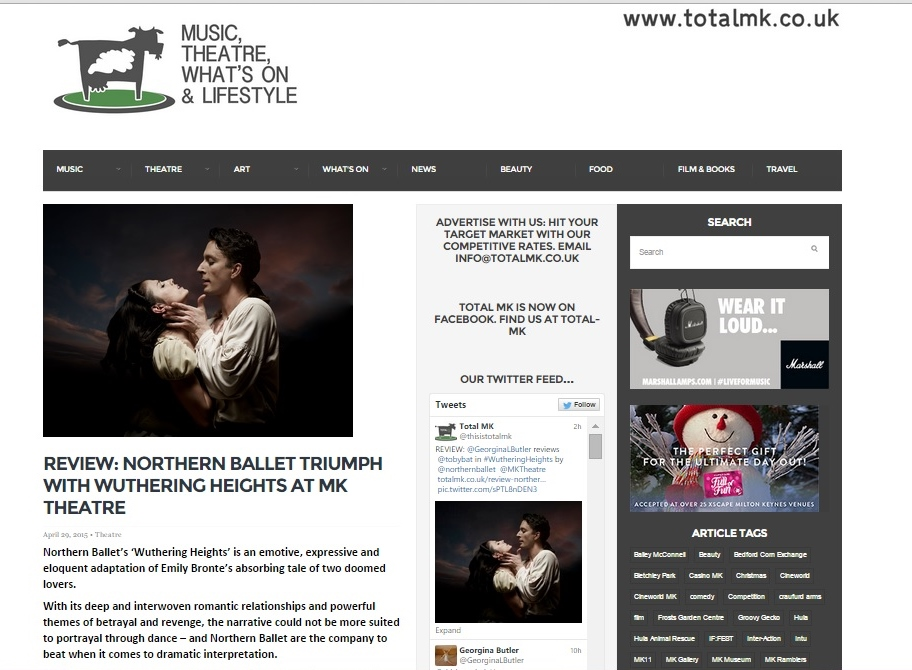Total MK 'Wuthering Heights' review image