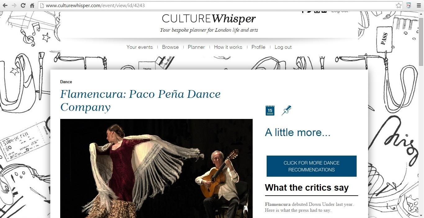 Culture Whisper Flamencura Paco Peña Dance Company 2015 1