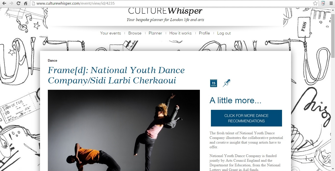 Culture Whisper Frame[d] National Youth Dance Company and Sidi Larbi Cherkaoui 2015 1