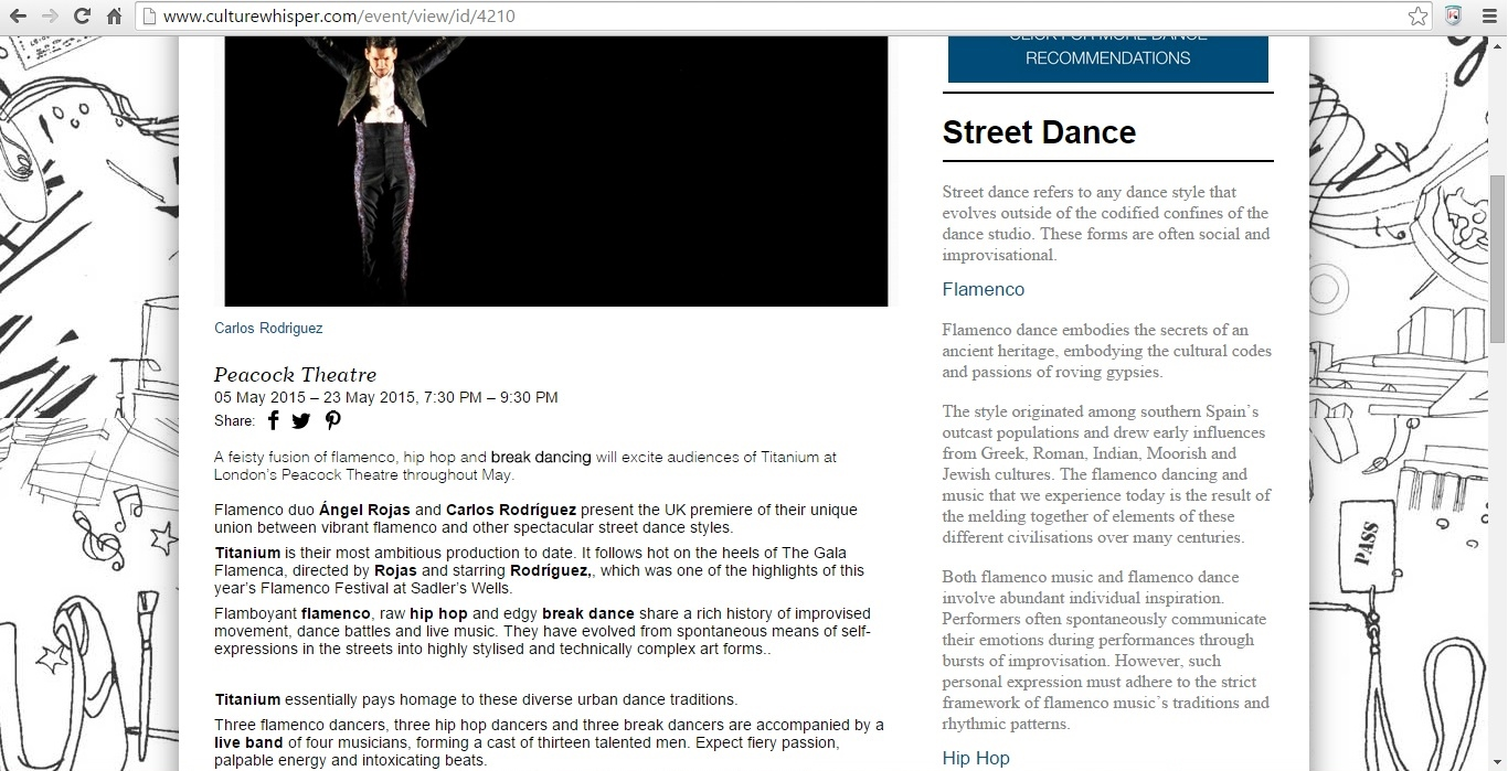 Screenshot of Culture Whisper content by Georgina Butler. Preview of Titanium: Rojas and Rodriguez, image 2
