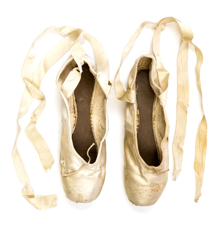 Ballet Shoes. Margot Fonteyn's pointe shoes.