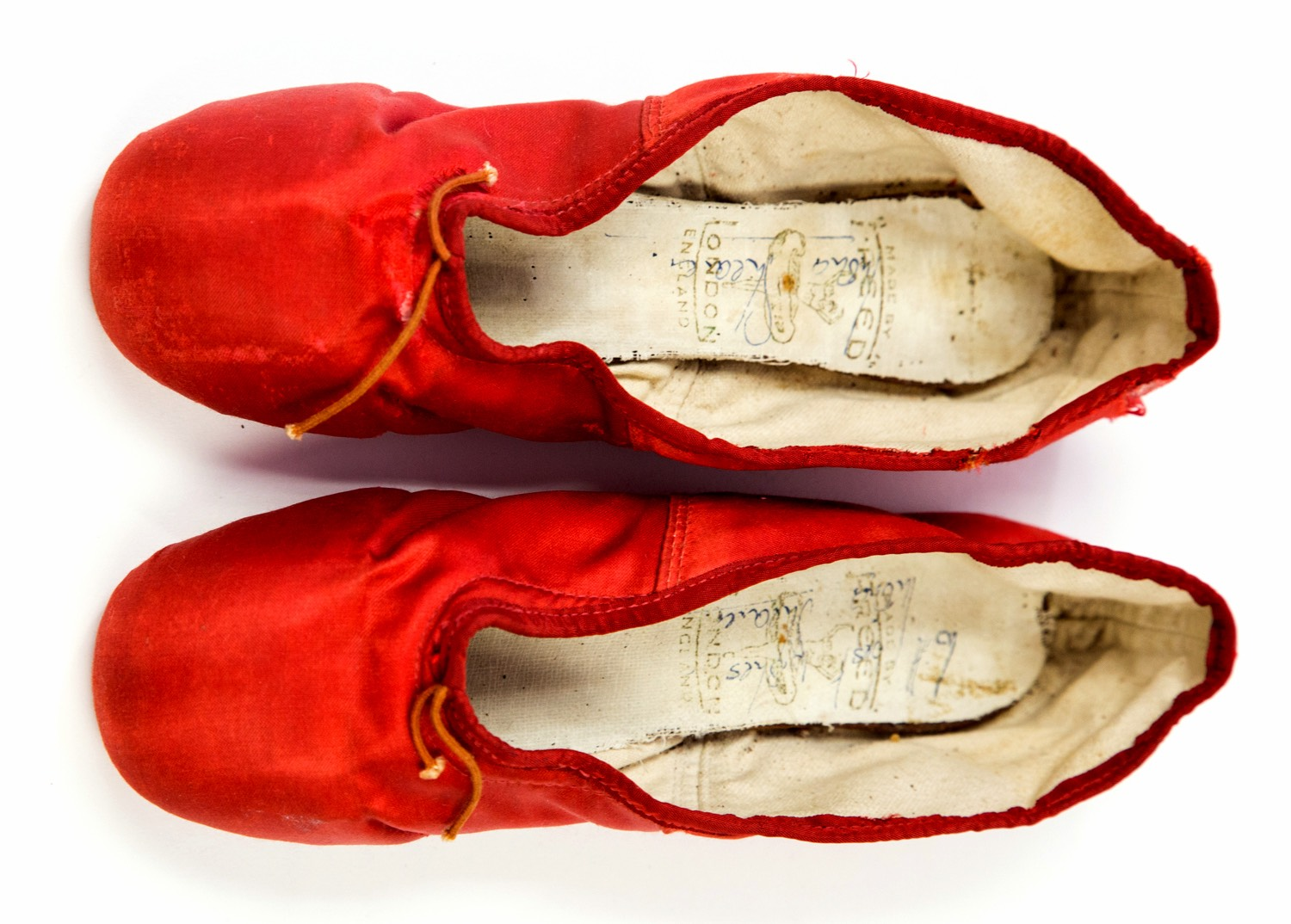 The Red Shoes: The pointe shoes worn by Moira Shearer in the classic movie