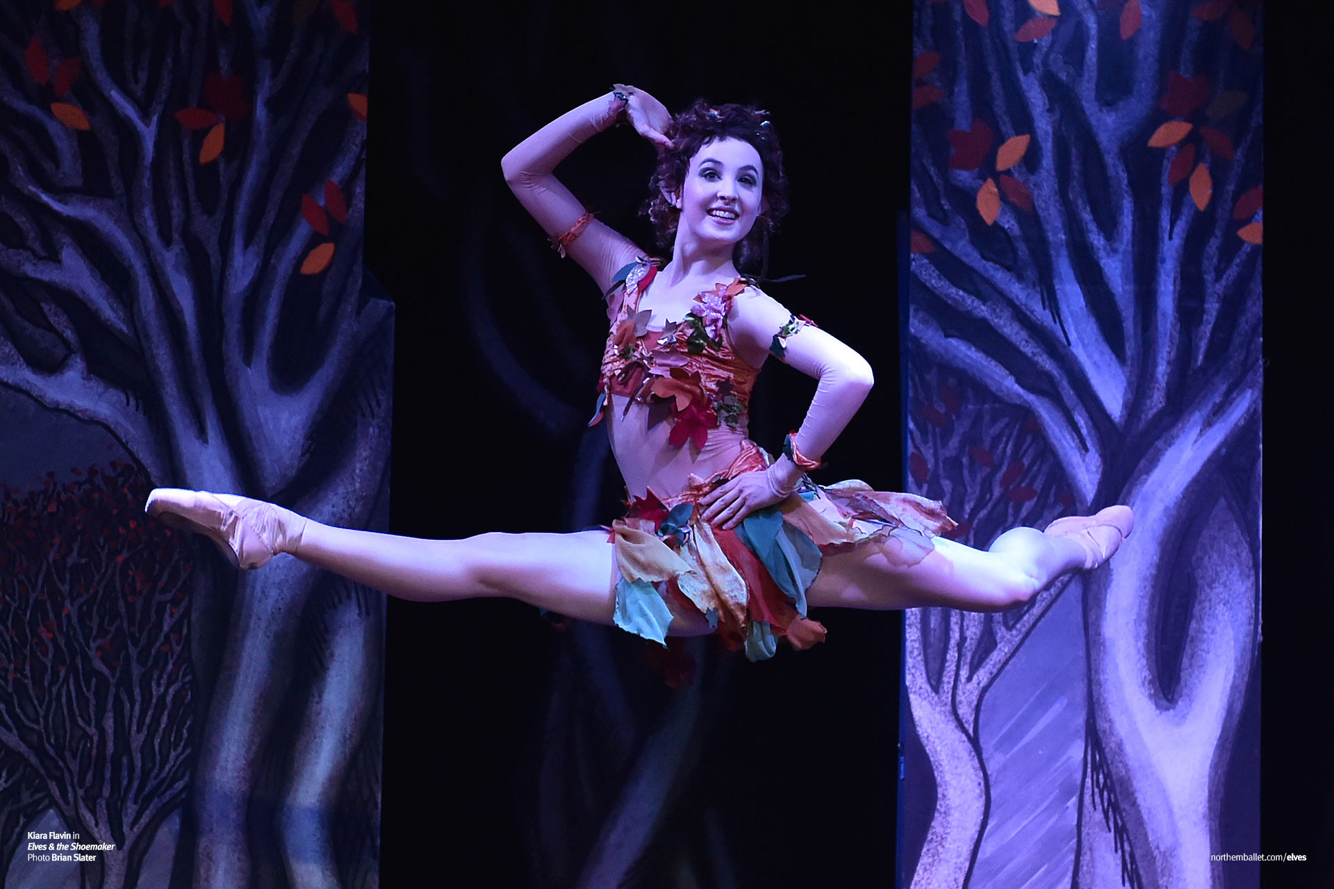 Dancer Kiara Flavin as Stitch the Elf in Northern Ballet's 'Elves and the Shoemaker'.