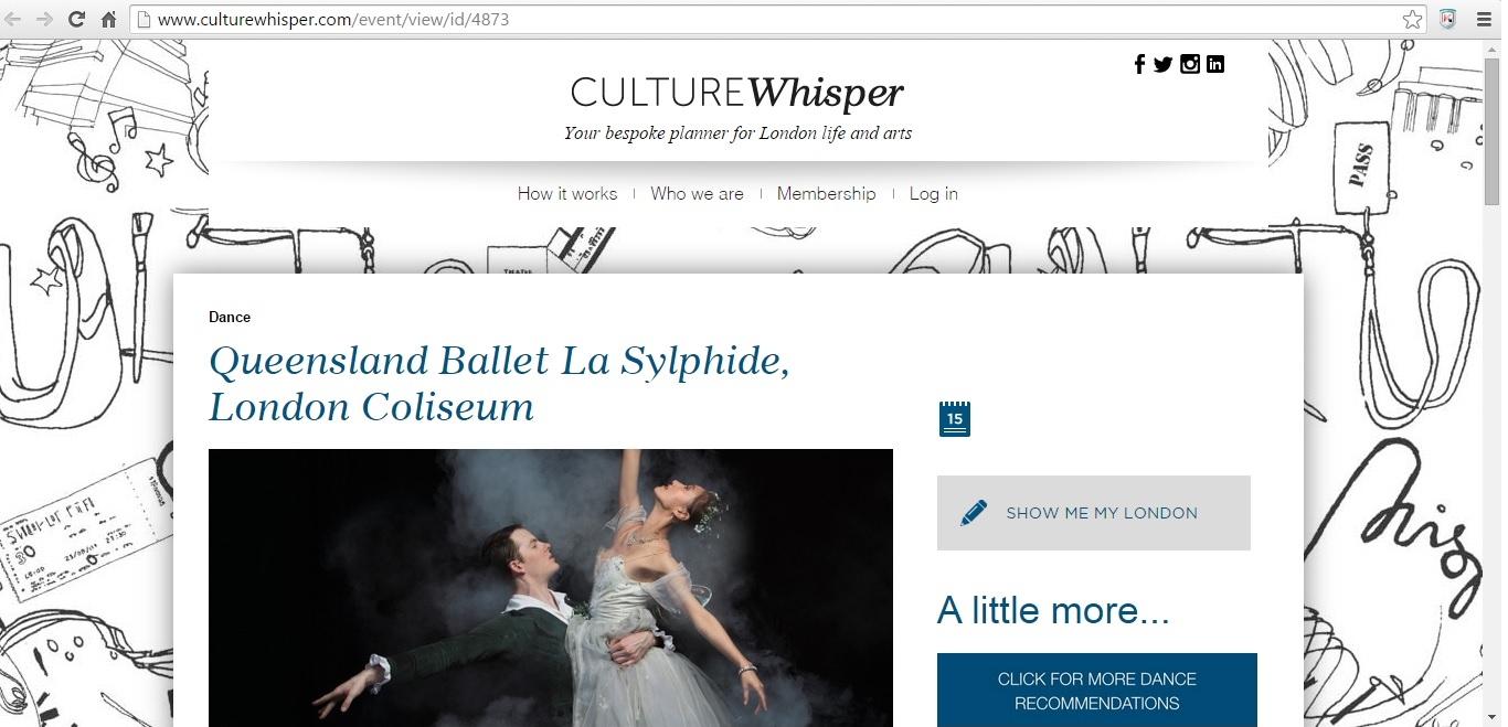 Culture Whisper Queensland Ballet 'La Sylphide' 1