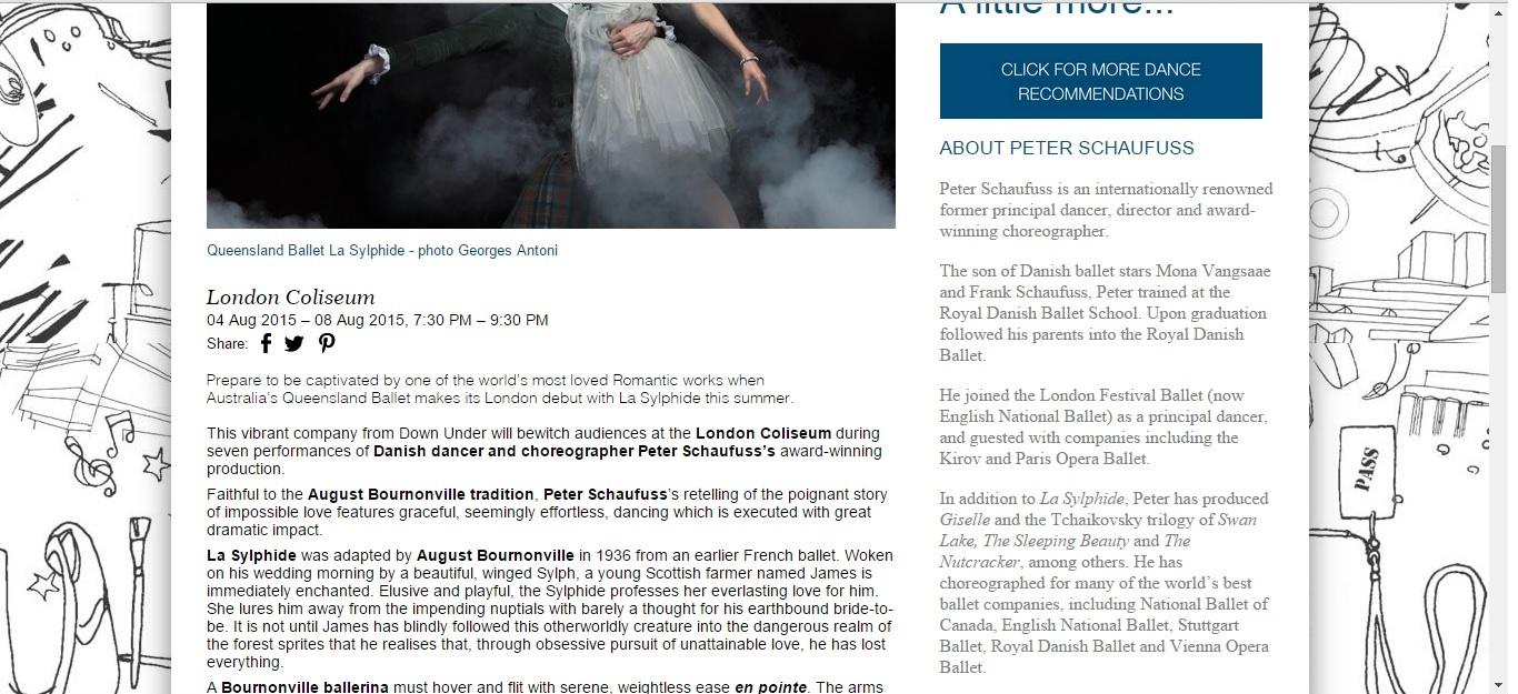 Culture Whisper Queensland Ballet 'La Sylphide' 2