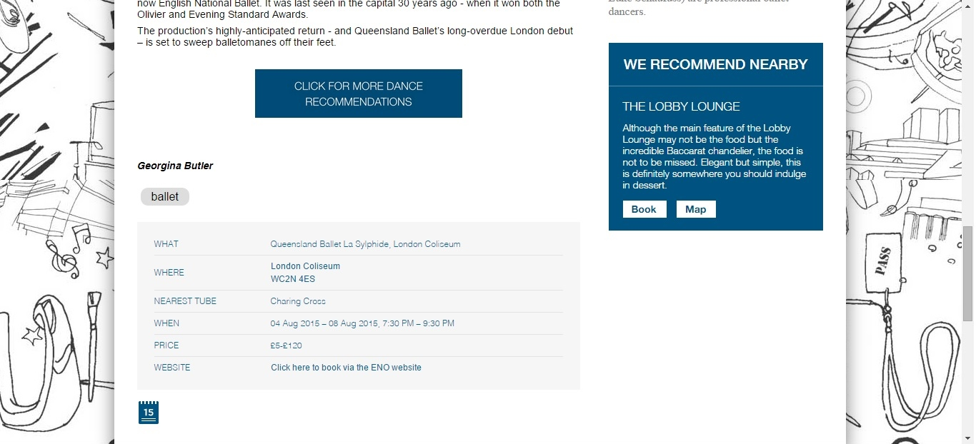Screenshot of Culture Whisper content by Georgina Butler. Preview of Queensland Ballet: La Sylphide, image 4