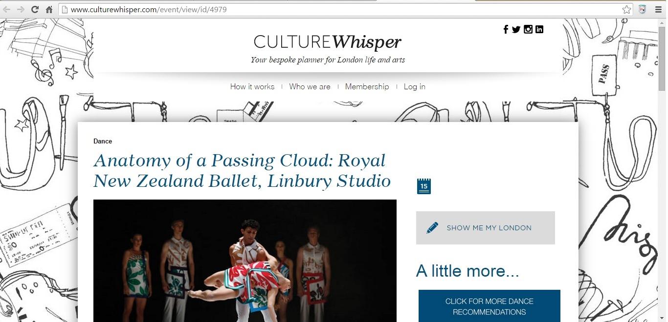Culture Whisper Royal New Zealand Ballet Mixed Programme 1