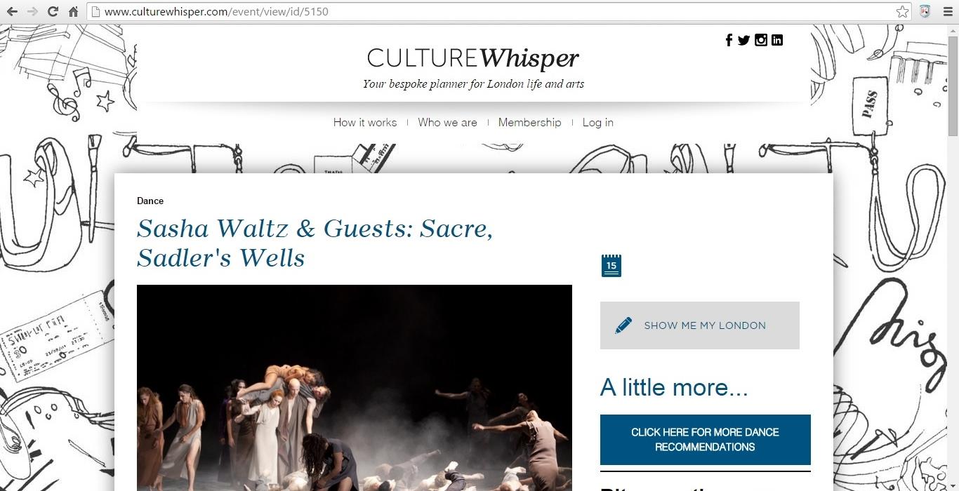 Culture Whisper Sacre 1