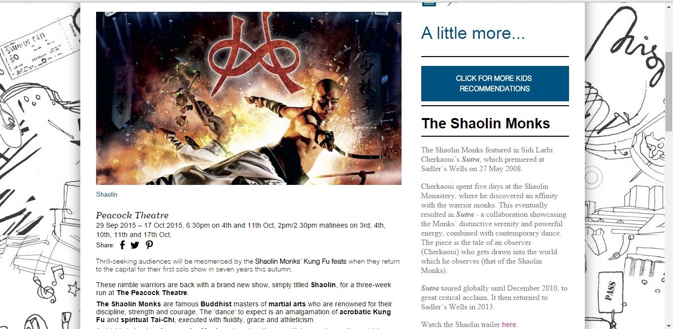 Screenshot of Culture Whisper content by Georgina Butler. Preview of SHAOLIN: Shaolin Monks, image 2