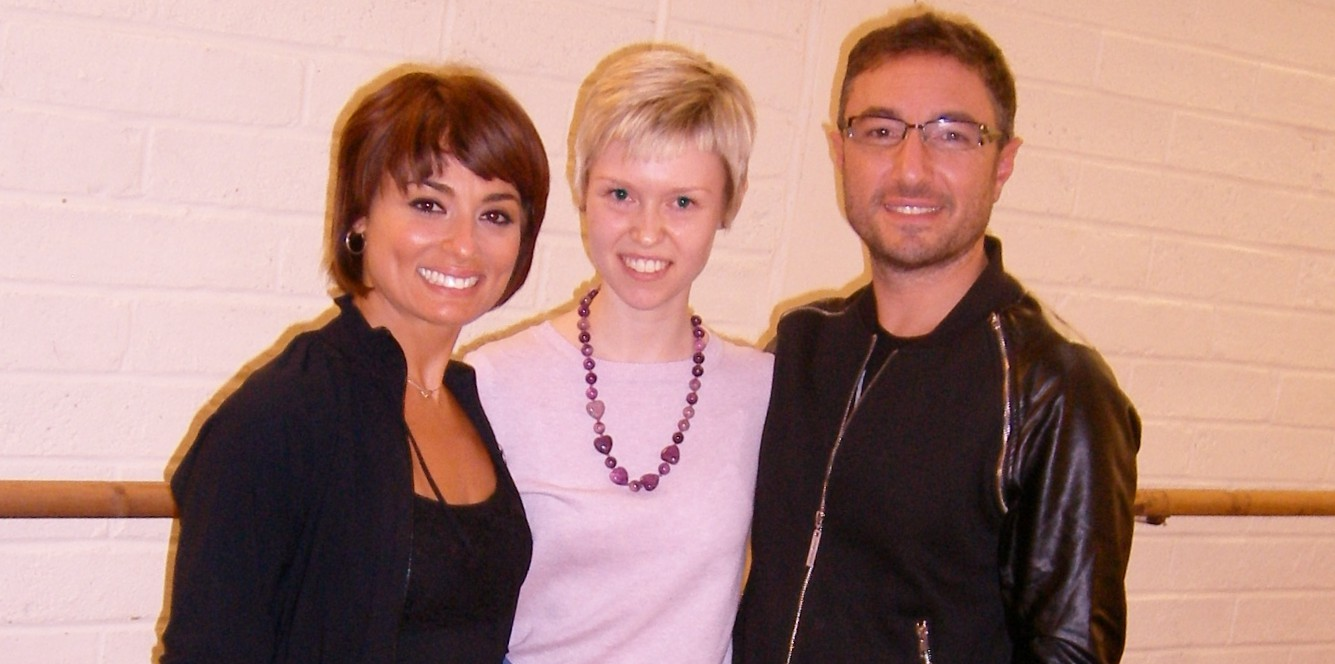 Rehearsals with Vincent Simone and Flavia Cacace. Georgina Butler with Vincent and Flavia during rehearsals for The Last Tango.
