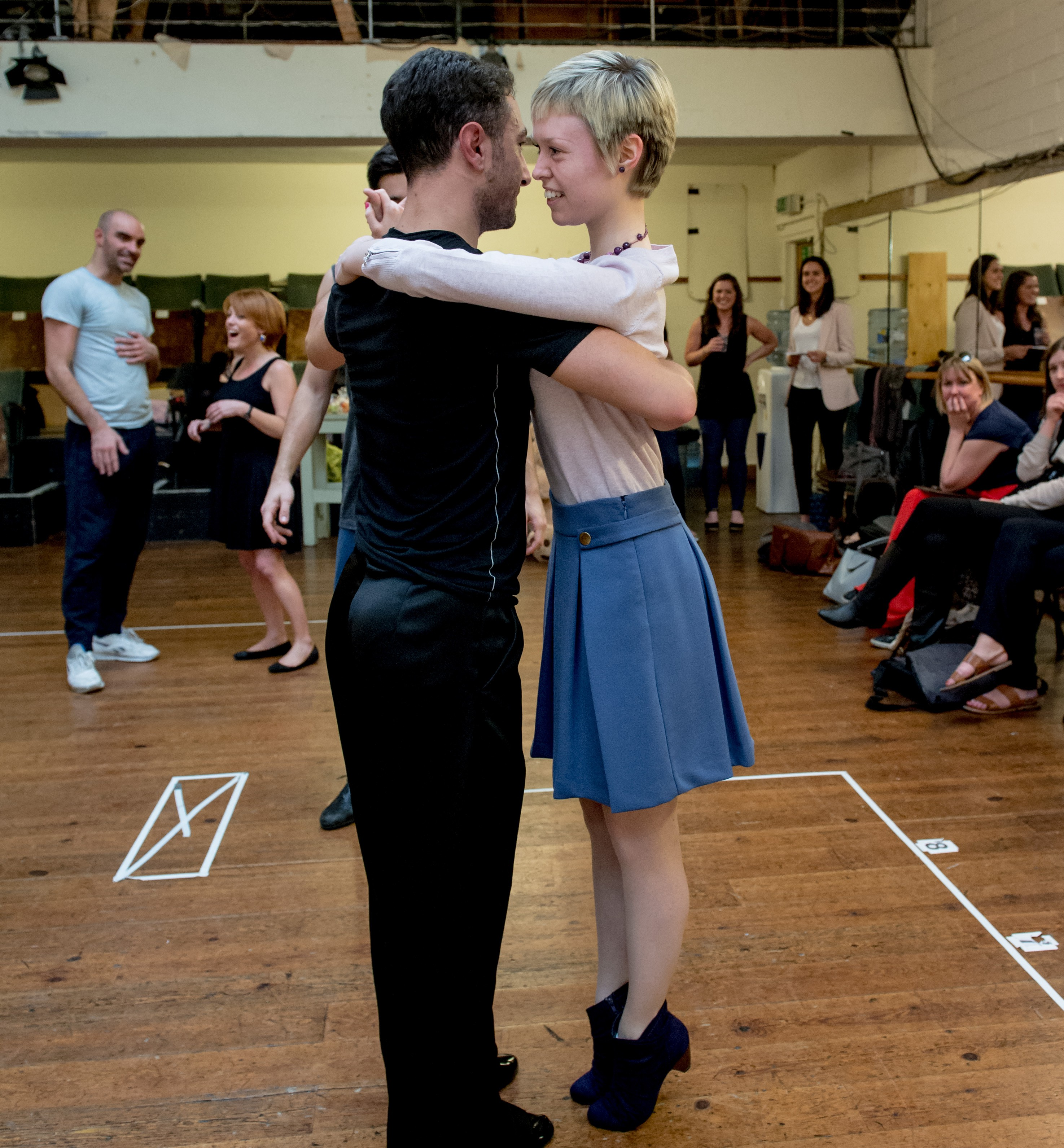 Rehearsals with Vincent Simon and Flavia Cacace. Vincent dances with Georgina Butler.