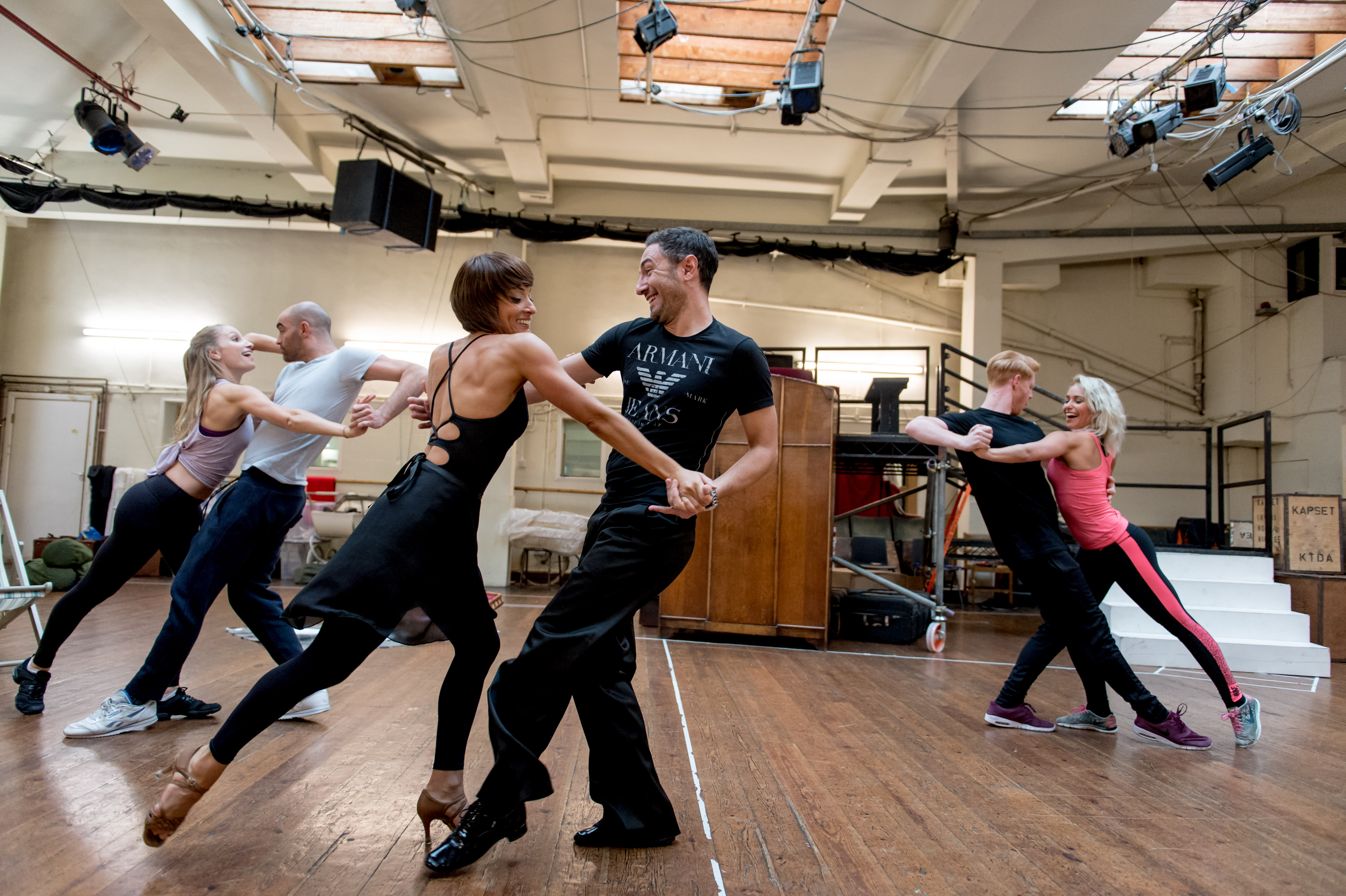 Rehearsals with Vincent Simone and Flavia Cacace. Vincent and Flavia rehearse The Last Tango.
