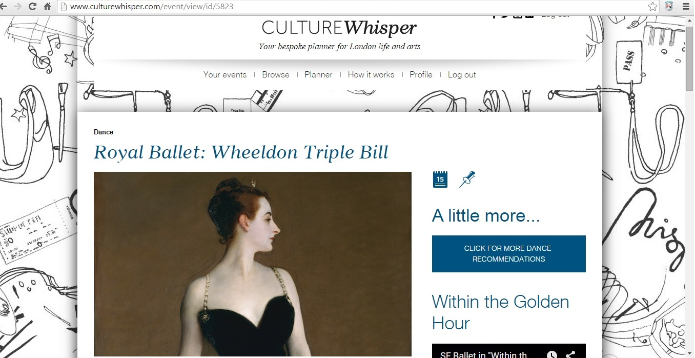 Culture Whisper Christopher Wheeldon 1