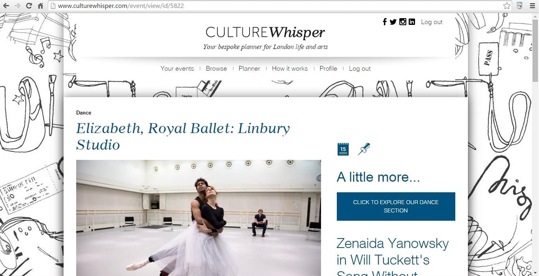 Culture Whisper Elizabeth 1