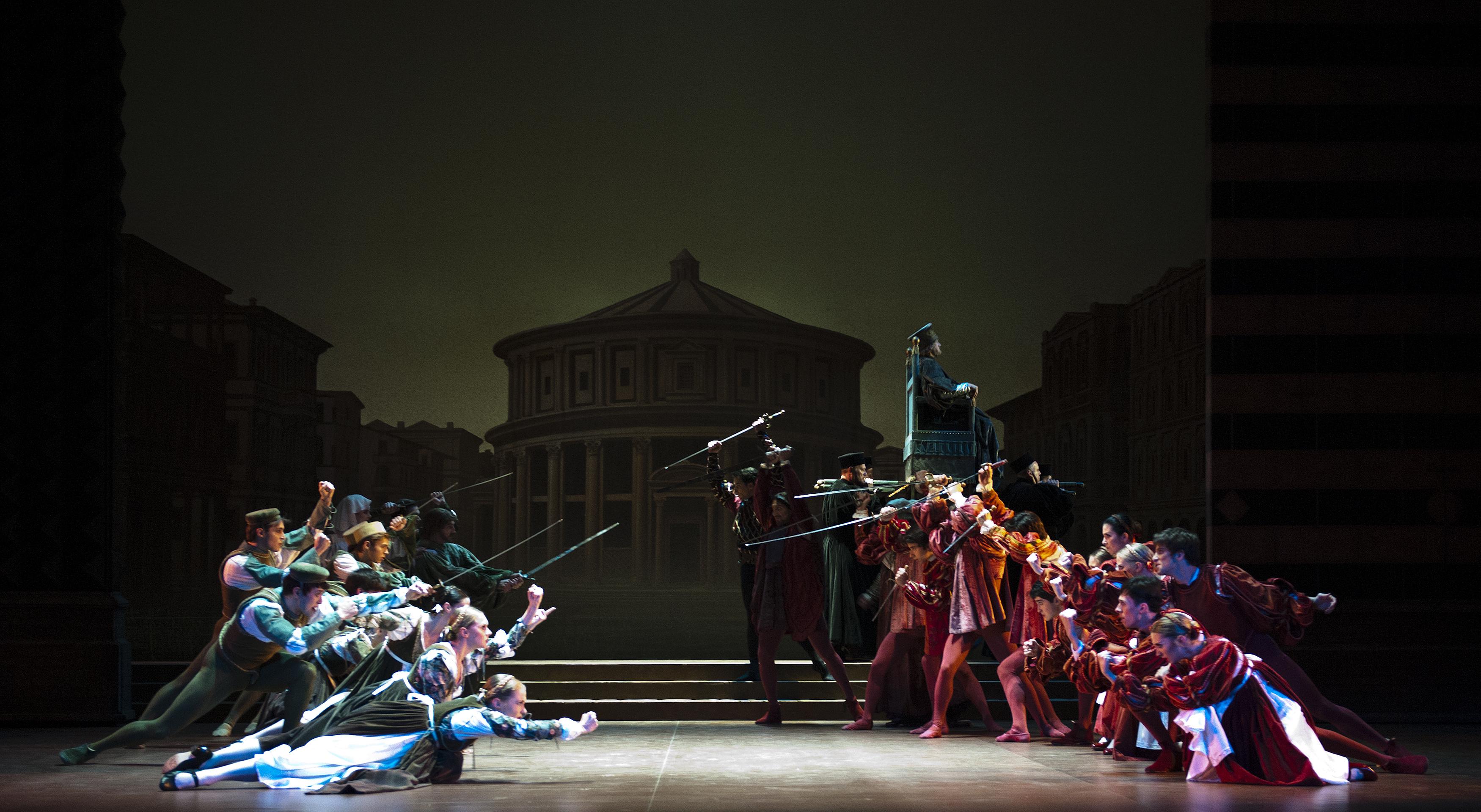 Romeo & Juliet. English National Ballet. Rudolf Nureyev production of Romeo & Juliet. Photo by Patrick Baldwin.