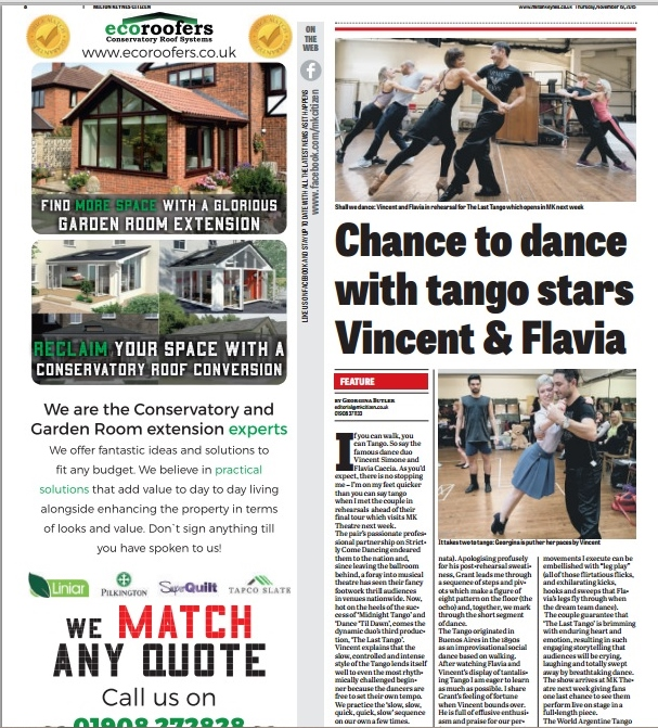 MK Citizen 19th November 2015, page 8 - Chance to dance with tango stars Vincent and Flavia