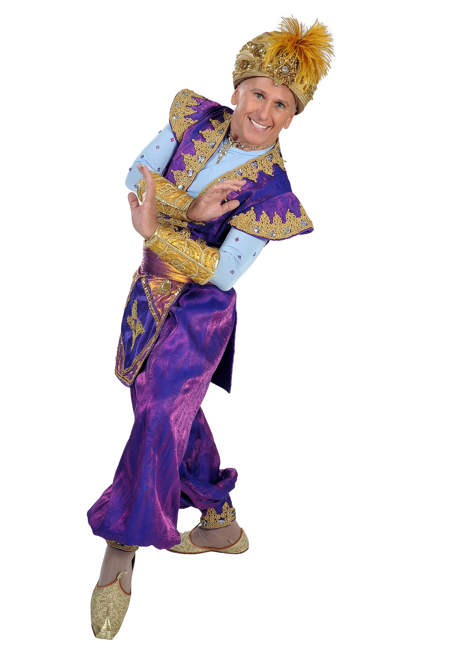 Panto 2015 - Wayne Sleep as Genie of the Ring