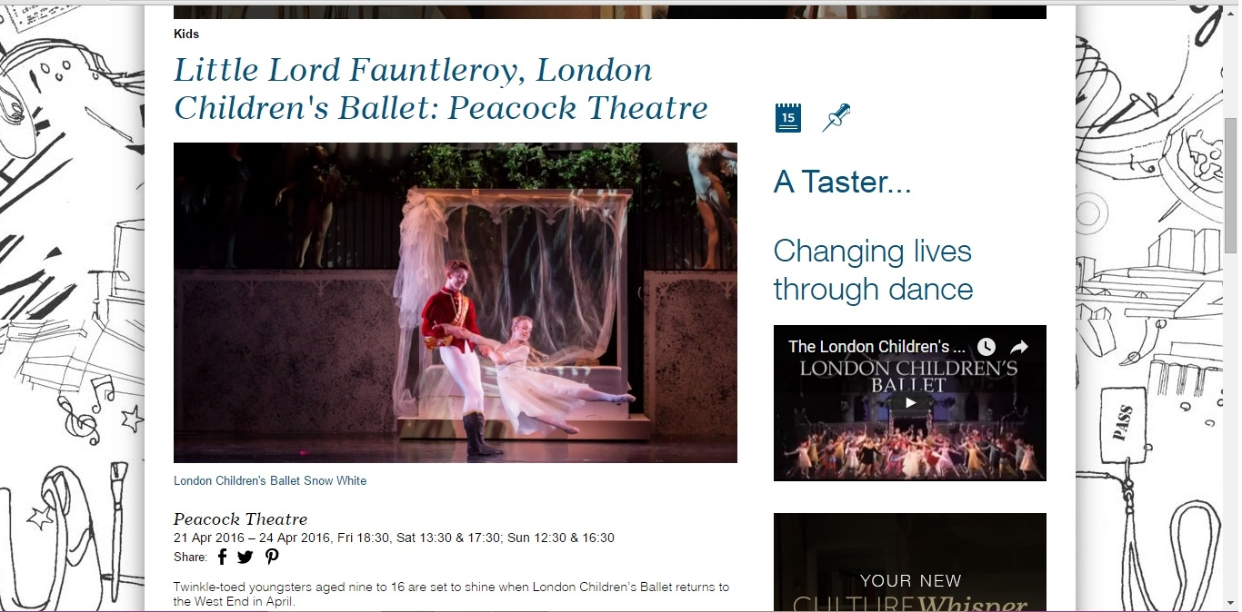 Culture Whisper London Children's Ballet - Little Lord 2