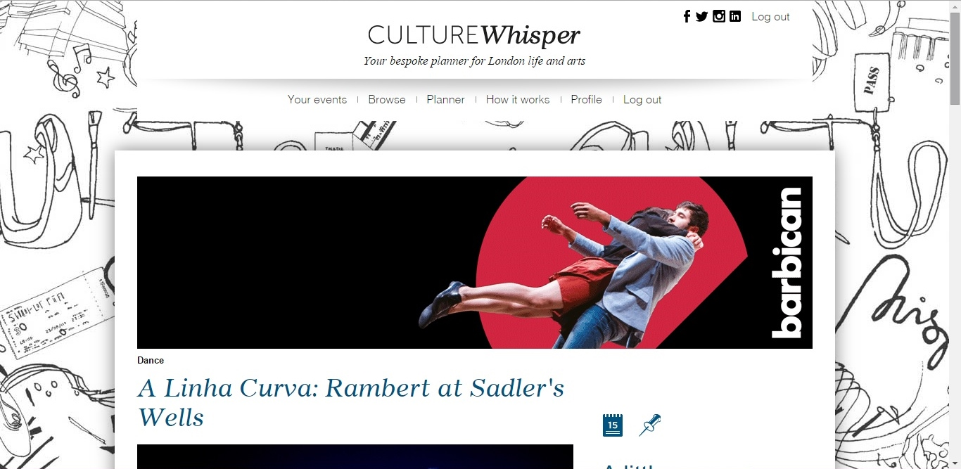 Culture Whisper Rambert - A Linha Curva 1