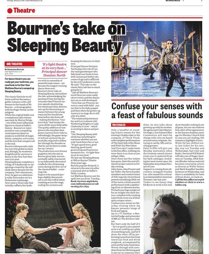 GO! January 2016 - Preview of Matthew Bourne's Sleeping Beauty