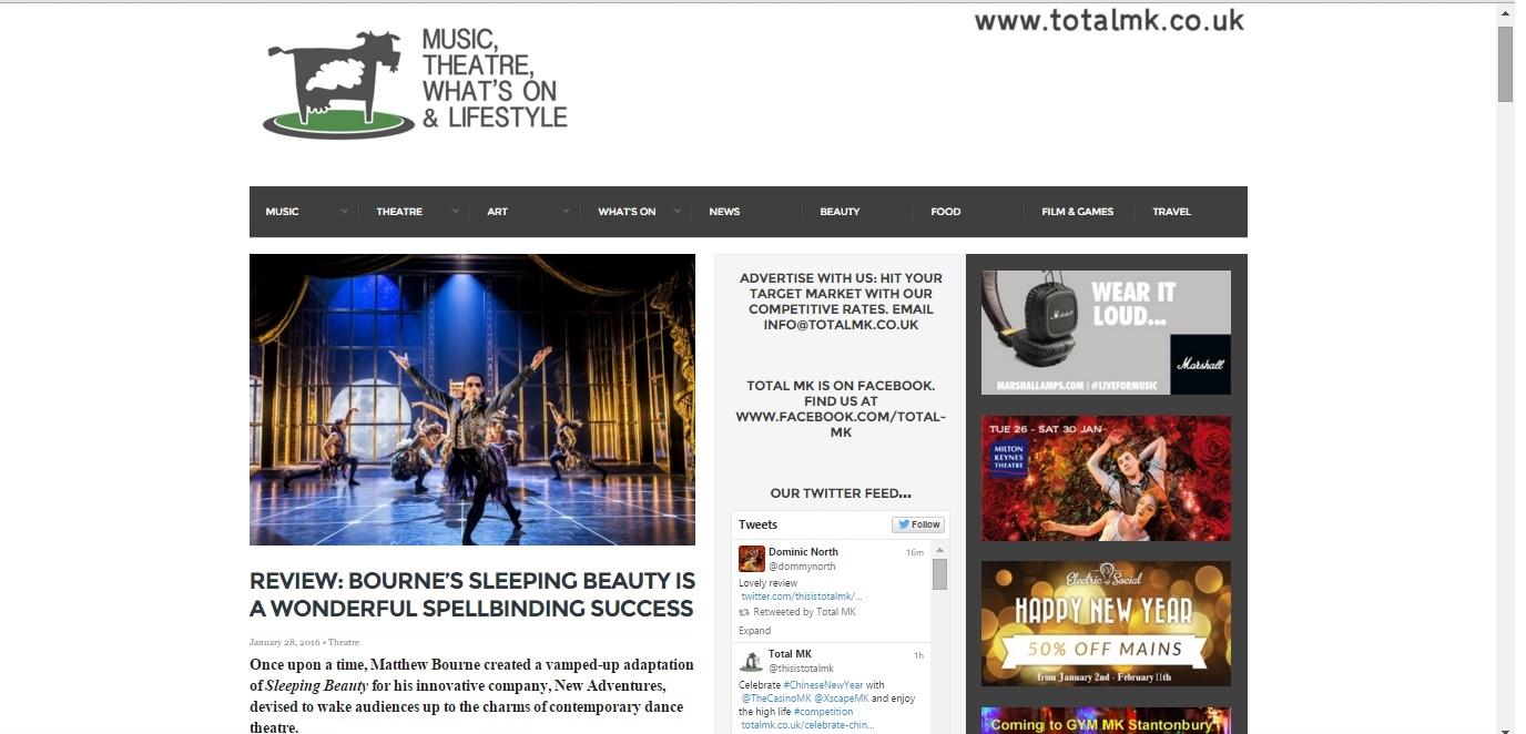 Total MK Matthew Bourne Sleeping Beauty review