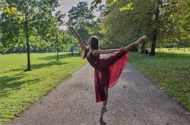 International Dance Day. Dance student Isabel Filby.