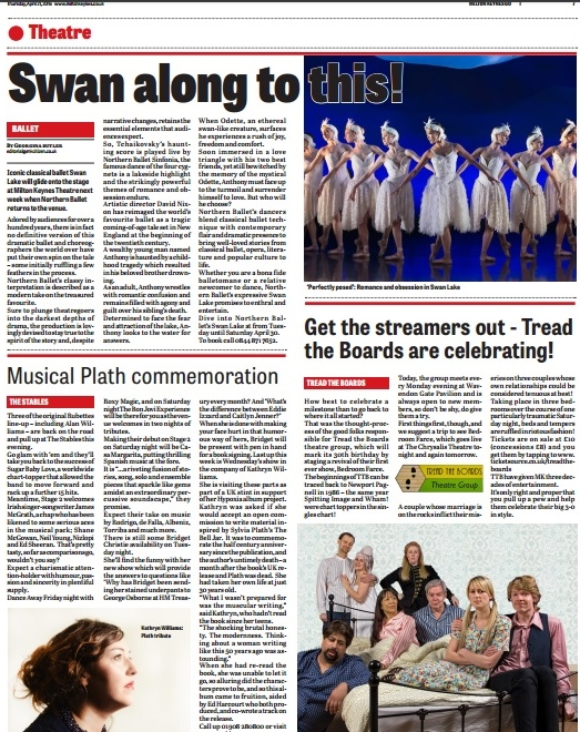GO! 21st April 2016 - Northern Ballet's Swan Lake on Theatre page.