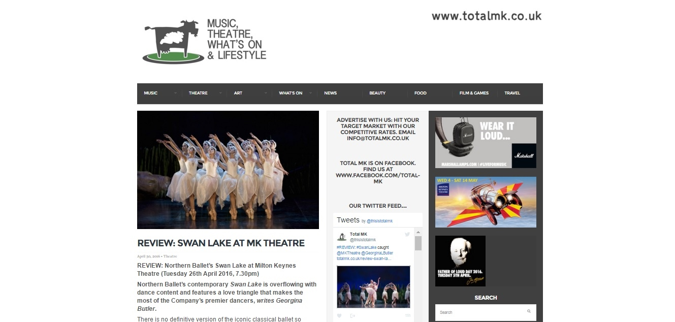 Total MK Northern Ballet Swan Lake Review