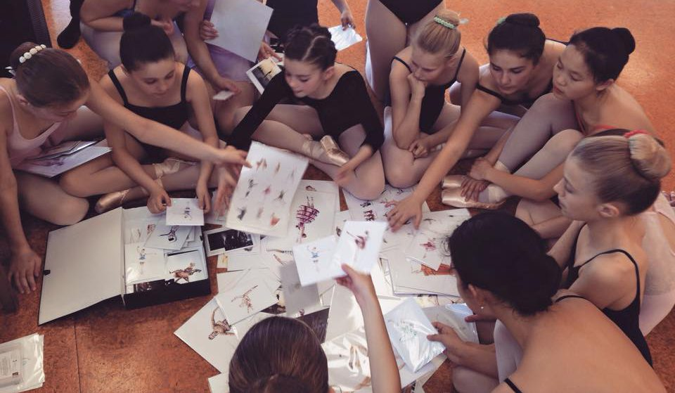 Olivia Holland's ballet pupils enjoy admiring and sharing her artwork.