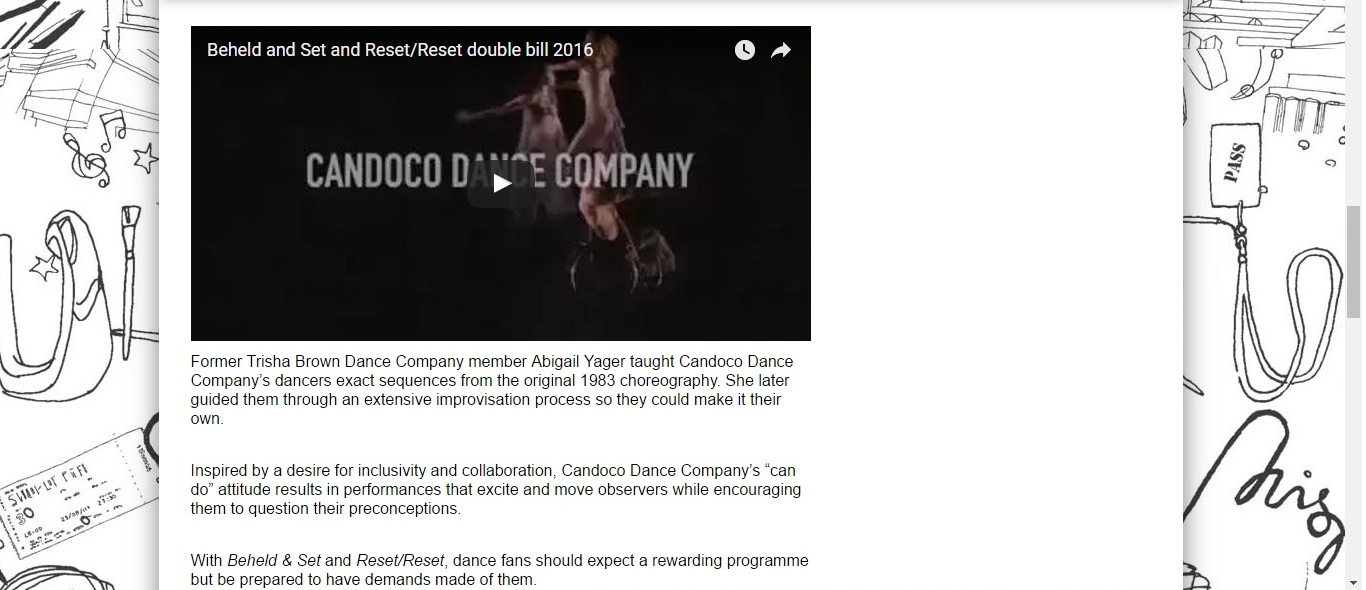 Screenshot of Culture Whisper content by Georgina Butler. Preview of Candoco: Beheld and Set & Reset/Reset, image 3