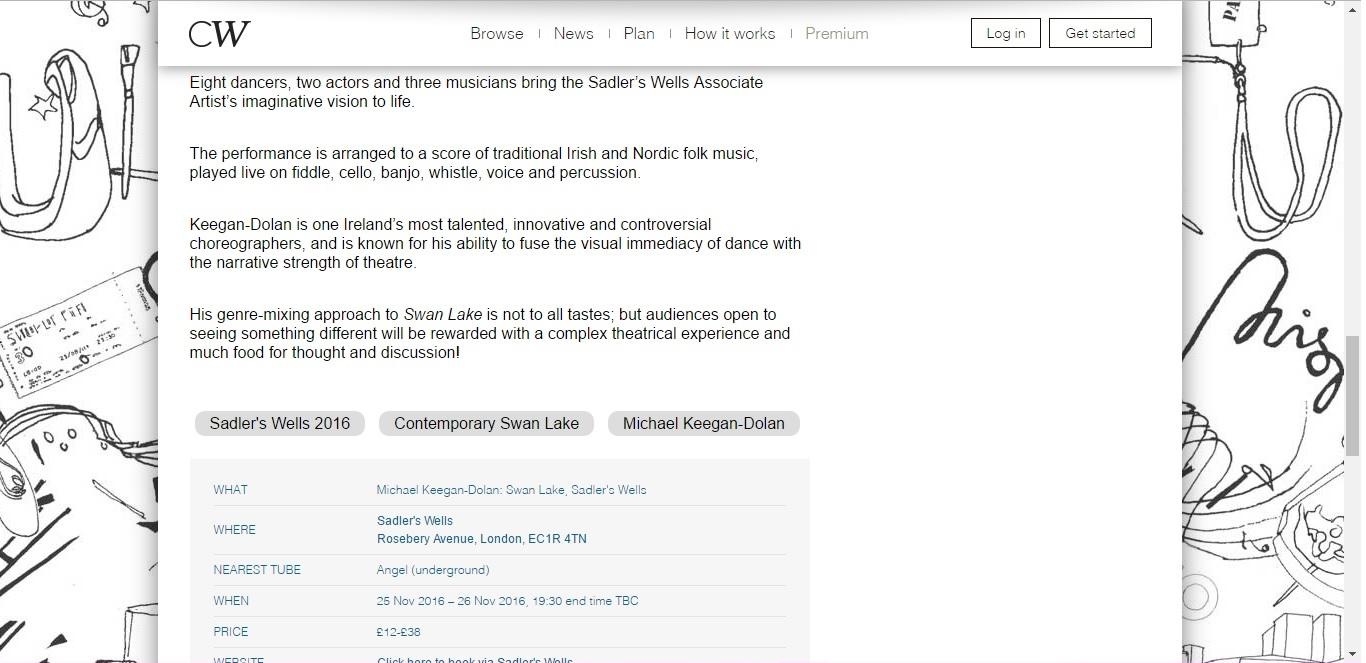 Screenshot of Culture Whisper content by Georgina Butler. Preview of Michael Keegan-Dolan: Swan Lake, image 3