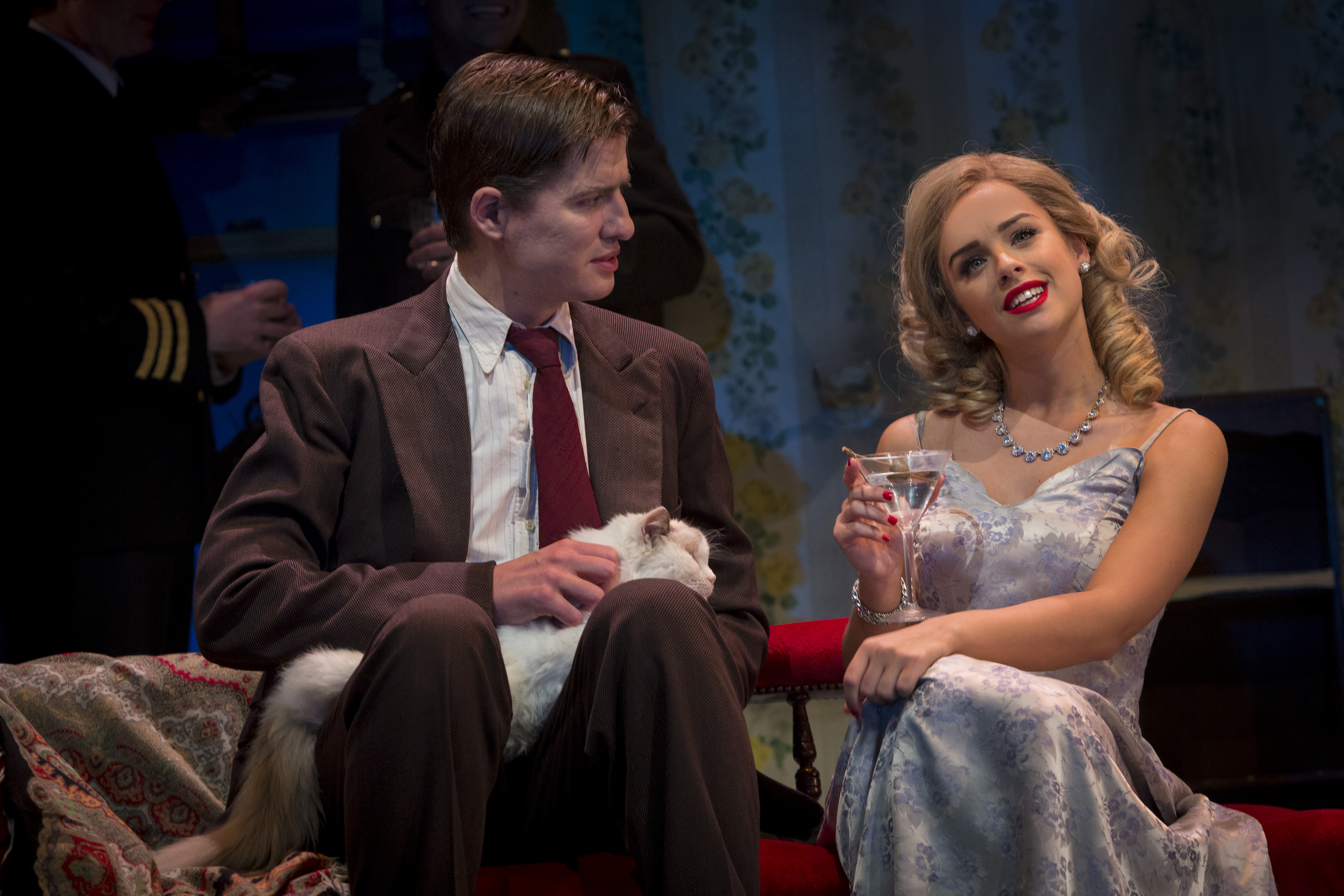 Breakfast at Tiffany's. Matt Barber as Fred and Georgia May Foote as Holly Golightly in Breakfast at Tiffany's. (Photo by Sean Ebsworth Barnes.