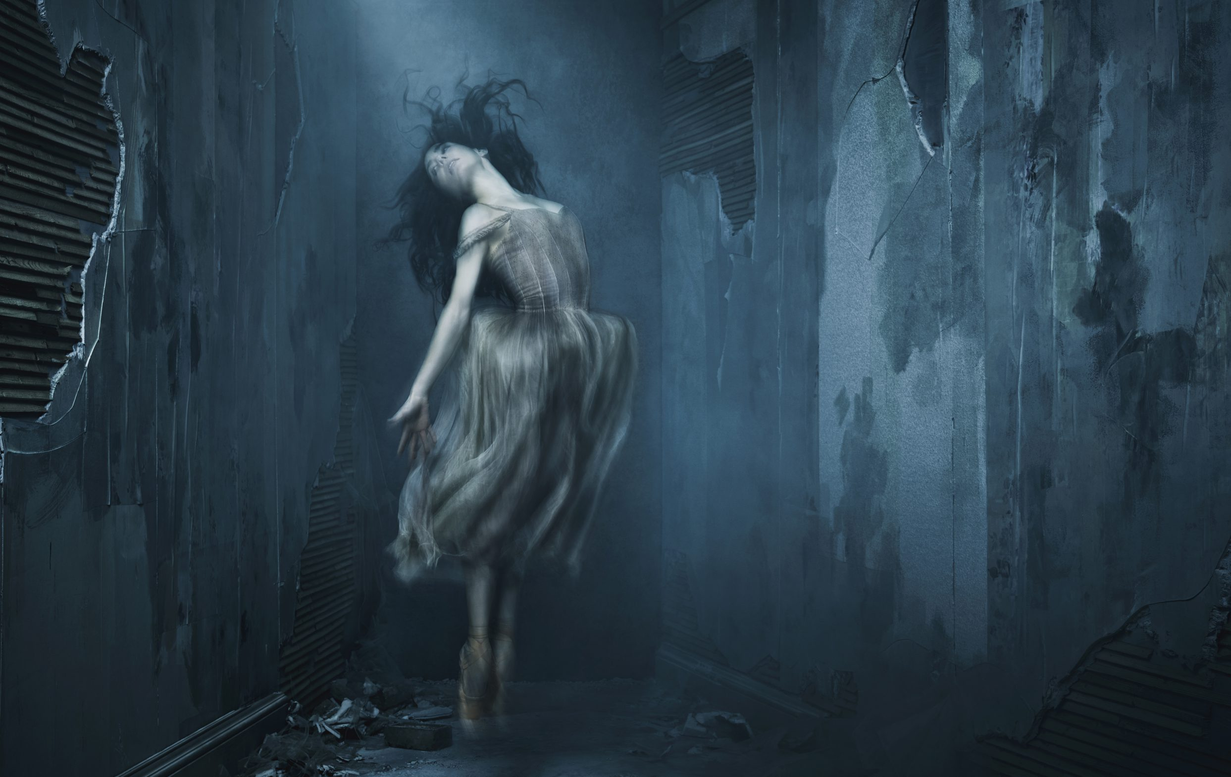 Akram Khan's Giselle publicity image of English National Ballet's artistic director and lead principal dancer Tamara Rojo.